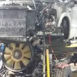 Front View of Cab Off Diesel Engine Repair