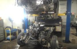 Flatbed Cab Off Diesel Engine Repair
